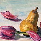 Картины и панно ручной работы. Ярмарка Мастеров - ручная работа Грушевый тюльпан. Handmade.