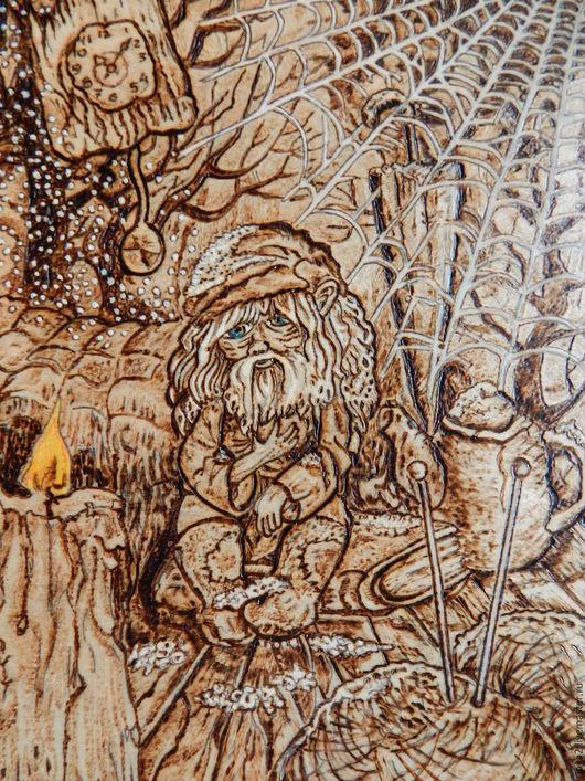 """Фэнтези ручной работы. Ярмарка Мастеров - ручная работа. Купить Картина """"Забытый"""". Handmade. Коричневый, для интерьера, ВЫЖИГАНИЕ ПО ДЕРЕВУ"""