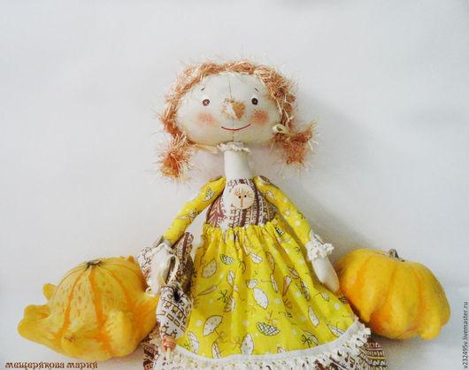 Коллекционные куклы ручной работы. Ярмарка Мастеров - ручная работа. Купить Куколка Октябринка. Handmade. Разноцветный, Осенние цвета