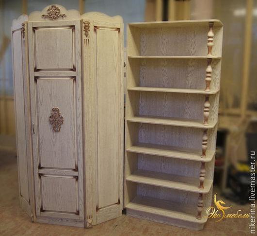 Мебель ручной работы. Ярмарка Мастеров - ручная работа. Купить Угловой шкаф и стеллаж в детскую комнату для девочки. Handmade. Бежевый