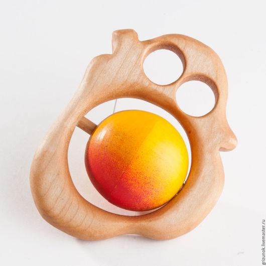 """Развивающие игрушки ручной работы. Ярмарка Мастеров - ручная работа. Купить Погремушка с горохом и бубенцами """"Спелая груша"""". Handmade."""