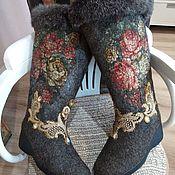 Обувь ручной работы handmade. Livemaster - original item boots: Winter felted boots with embroidery. Handmade.
