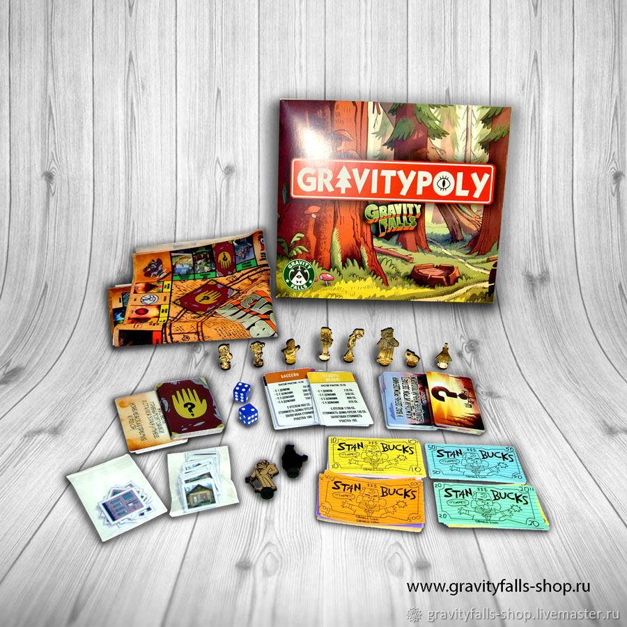 Настольная игра Гравити Фолз, ГравитиПолия, (Gravitypoly), Карточные игры, Москва,  Фото №1
