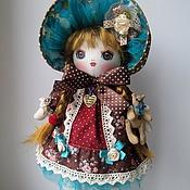 Куклы и игрушки ручной работы. Ярмарка Мастеров - ручная работа Лиза, шоколад и бирюза. Handmade.