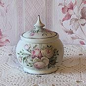 Посуда handmade. Livemaster - original item Sugar bowl shabby chic Pink. Handmade.