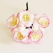 Материалы для творчества ручной работы. Ярмарка Мастеров - ручная работа 3 расцветки Цветы вишни  5 шт. Handmade.