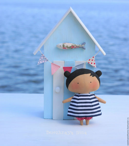 Куклы Тильды ручной работы. Ярмарка Мастеров - ручная работа. Купить Sweetheart doll. Handmade. Голубой, sweet home, море