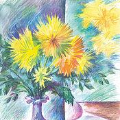 Картины и панно ручной работы. Ярмарка Мастеров - ручная работа Картина Отражение солнца. Handmade.