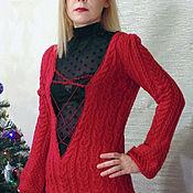 Одежда handmade. Livemaster - original item Cardigan with a deep neckline and beaded trim.. Handmade.