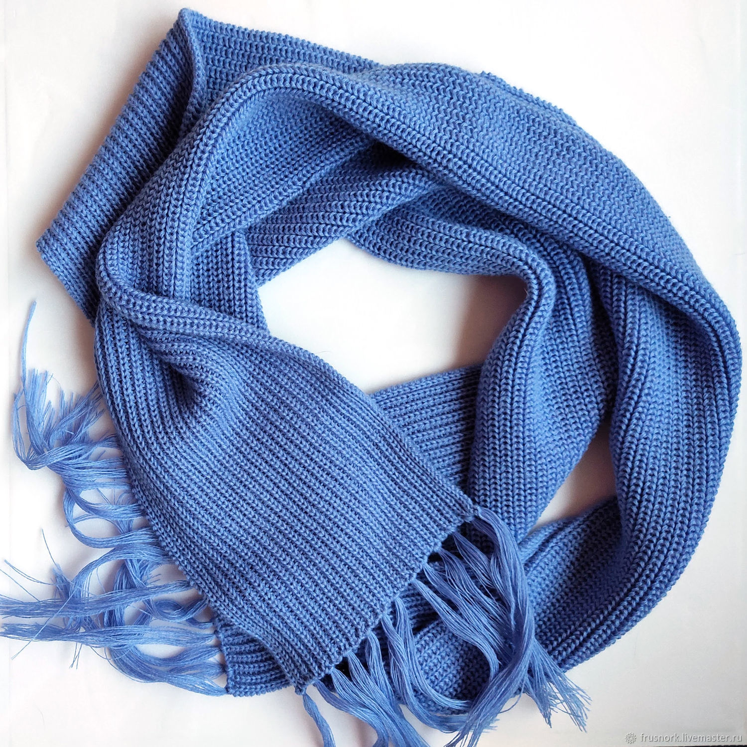 Knitted women's scarf Blondes love blue!, Scarves, Petrozavodsk,  Фото №1