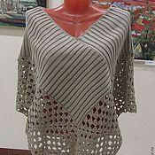 """Одежда handmade. Livemaster - original item Летнее пончо """"крем брюле"""". Handmade."""