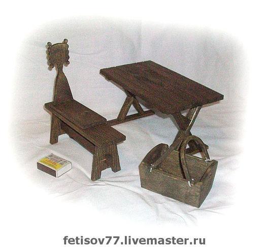 Кукольный дом ручной работы. Ярмарка Мастеров - ручная работа. Купить Кукольная мебель для крестьянской избы. Handmade. Кукольная миниатюра