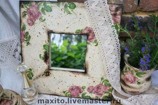 """Зеркала ручной работы. Ярмарка Мастеров - ручная работа. Купить Зеркало """"Bonjour madame"""". Handmade. Зеркало, дерево"""