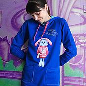 Одежда handmade. Livemaster - original item Sweatshirt-hoodie Rabbit. Handmade.