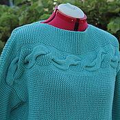 Одежда handmade. Livemaster - original item Pullover with cross braids