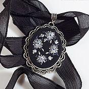 Субкультуры handmade. Livemaster - original item Embroidered Negro pendant. Handmade.