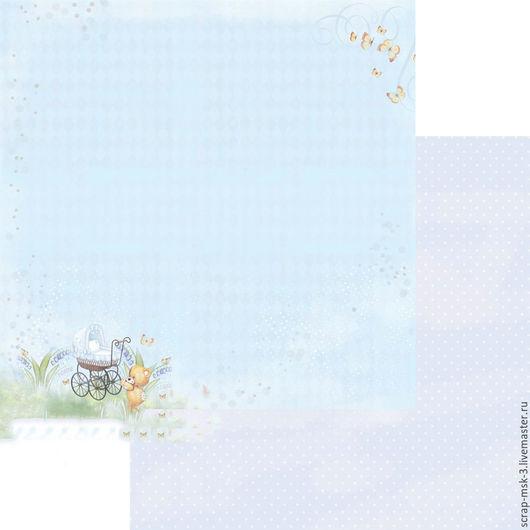 Открытки и скрапбукинг ручной работы. Ярмарка Мастеров - ручная работа. Купить Бумага для скрапбукинга по листу Сладкий сон 3202 Fleur Design. Handmade.