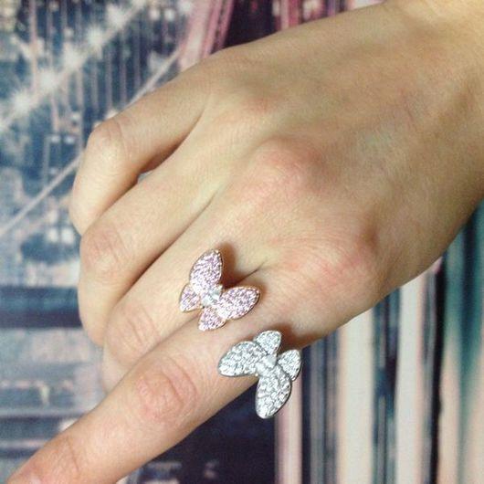 Кольца ручной работы. Ярмарка Мастеров - ручная работа. Купить Кольцо из серебра. Handmade. Бабочка, кольцо бабочка