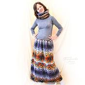 Одежда handmade. Livemaster - original item Set:Maxi Skirt+Snood