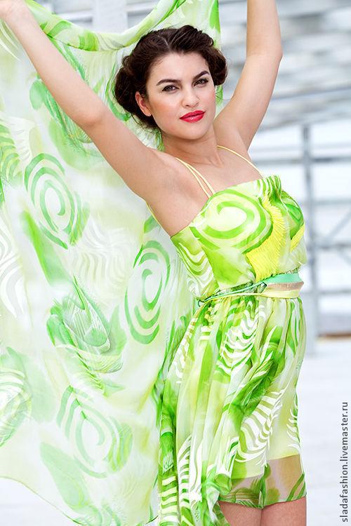 """Платья ручной работы. Ярмарка Мастеров - ручная работа. Купить Платье """"Тропический рай"""". Handmade. Платье, салатовое платье"""
