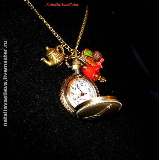 Watches handmade. Livemaster - handmade. Buy Watch-pendant 'Love in Paris'.Watch-pendant, watch, zircon