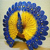 Народные сувениры ручной работы. Ярмарка Мастеров - ручная работа Птица счастья Северное солнце, дерево, роспись. Handmade.