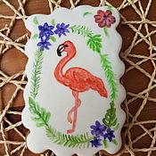 Пряники ручной работы. Ярмарка Мастеров - ручная работа Пряники: Розовый фламинго. Handmade.