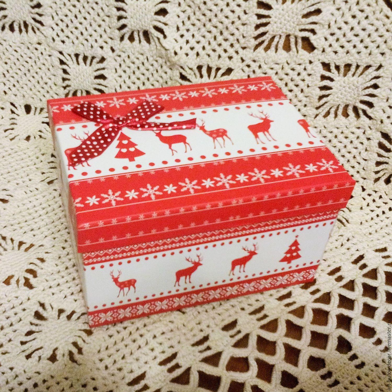 Новогодняя коробка для подарка фото