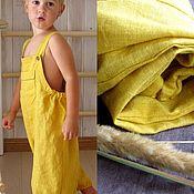 Работы для детей, handmade. Livemaster - original item Linen summer overalls for the boy. Handmade.
