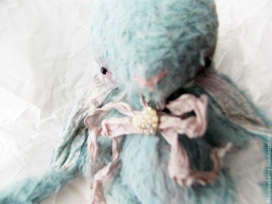 Мишки Тедди ручной работы. Ярмарка Мастеров - ручная работа. Купить Blue Bunny. Handmade. Голубой, кролик, зайчонок, вискоза
