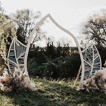 Свадебный салон ручной работы. Ярмарка Мастеров - ручная работа Свадебная арка Листья. Handmade.
