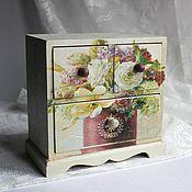 Для дома и интерьера ручной работы. Ярмарка Мастеров - ручная работа Мини-комод. Handmade.
