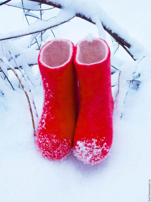 Валенки для девочки. Валенки детские ручной работы.Обувь из войлока. Обувь ручной работы.Валенки для улицы. Валенки самовалки. Зимняя обувь для детей. Детские валенки для улицы.