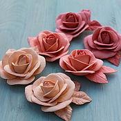 Работы для детей, ручной работы. Ярмарка Мастеров - ручная работа Резинки или зажимы для волос с розой. Handmade.