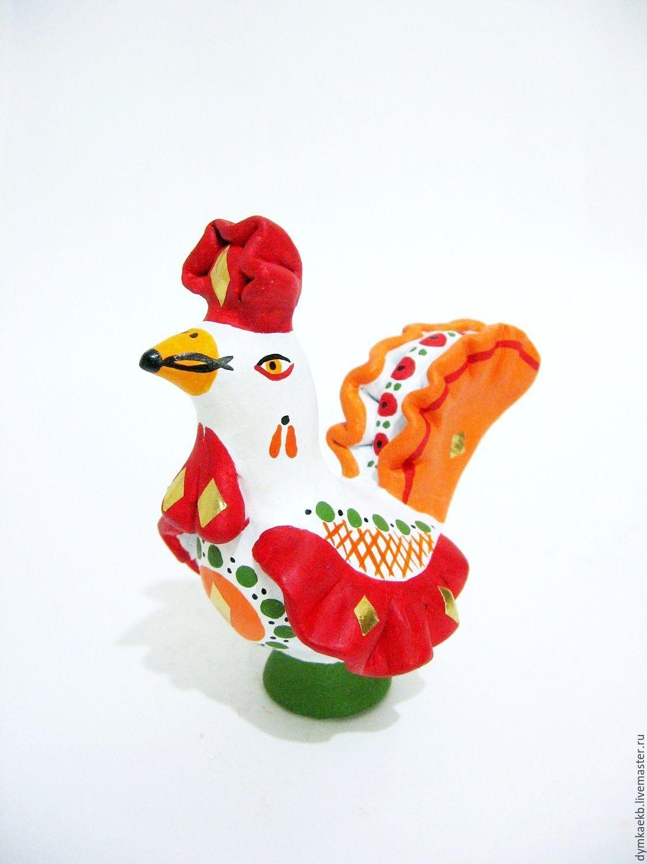 Петушок глиняный 1. Глиняная народная игрушка, Мягкие игрушки, Екатеринбург,  Фото №1