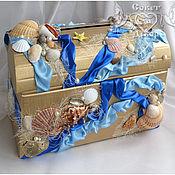Свадебный салон ручной работы. Ярмарка Мастеров - ручная работа Сундучок для денег морской. Handmade.