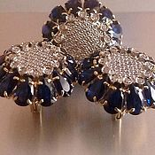 Salome. Серьги и кольцо с сапфирами и бриллиантами в золоте