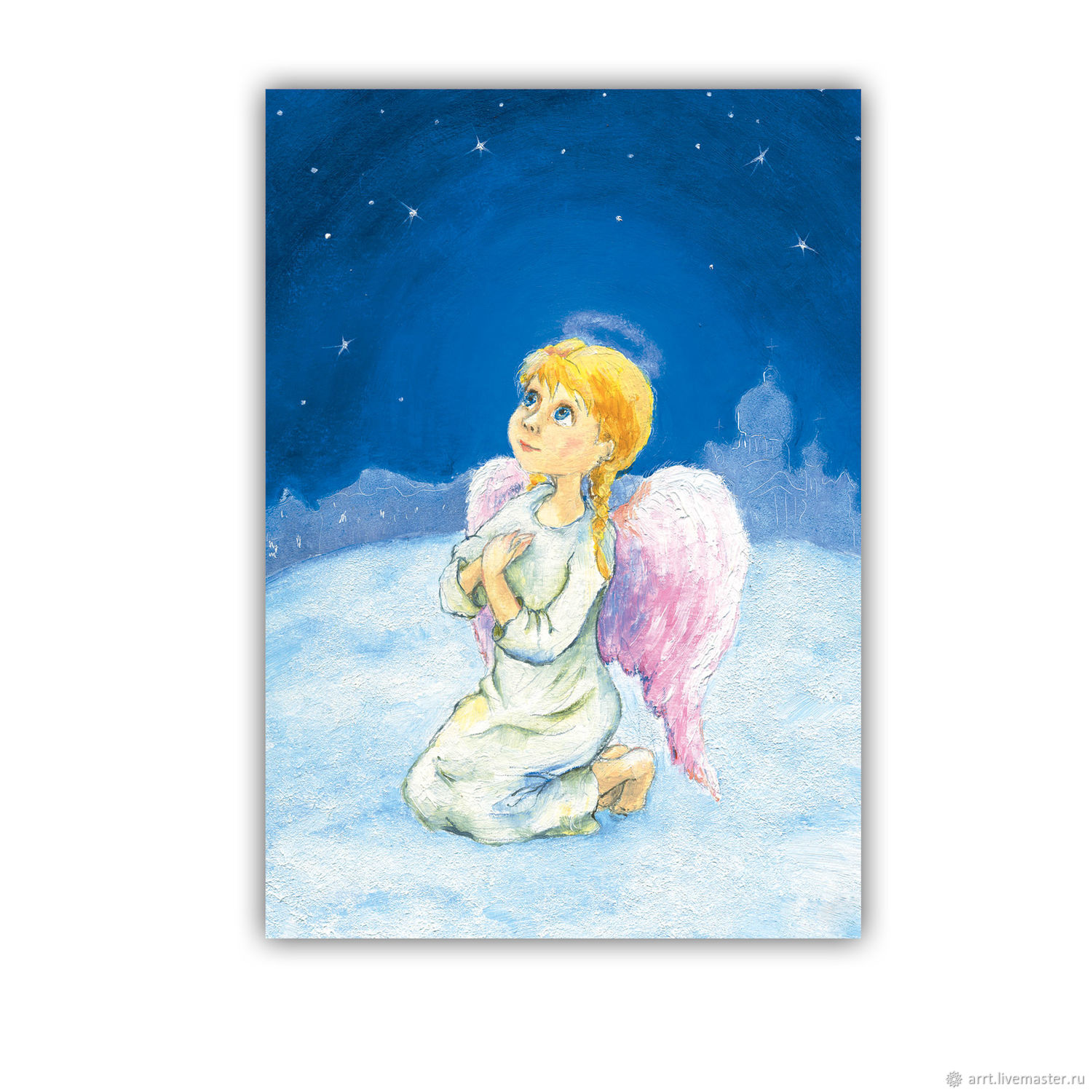 Christmas angel Card or picture Reproduction, Christmas gifts, St. Petersburg,  Фото №1