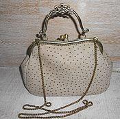 Сумки и аксессуары handmade. Livemaster - original item Bag purse with clasp genuine leather