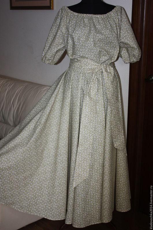 """Платья ручной работы. Ярмарка Мастеров - ручная работа. Купить Платье """"Мелкий цветочек"""". Handmade. Бежевый, мелкий цветочек"""