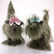 Куклы и игрушки ручной работы. Ярмарка Мастеров - ручная работа игрушка Собака лохматая (щенок, собачки,пес, йорк). Handmade.