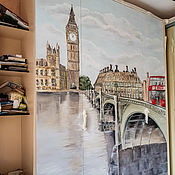 Дизайн и реклама handmade. Livemaster - original item Cabinet painting London. Handmade.