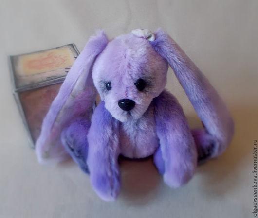"""Мишки Тедди ручной работы. Ярмарка Мастеров - ручная работа. Купить Зайчик """"Лили"""". Handmade. Сиреневый, заяц, американский хлопок"""