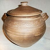 Посуда handmade. Livemaster - original item Large ceramic pot pottery cookware pottery casserole. Handmade.