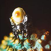 """Украшения ручной работы. Ярмарка Мастеров - ручная работа Серебряное кольцо с агатом """"Тарантул"""". Handmade."""