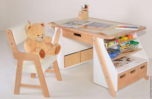 Детская ручной работы. Ярмарка Мастеров - ручная работа. Купить Столик  детский белый для рисования от 3 до 10 лет. Handmade.