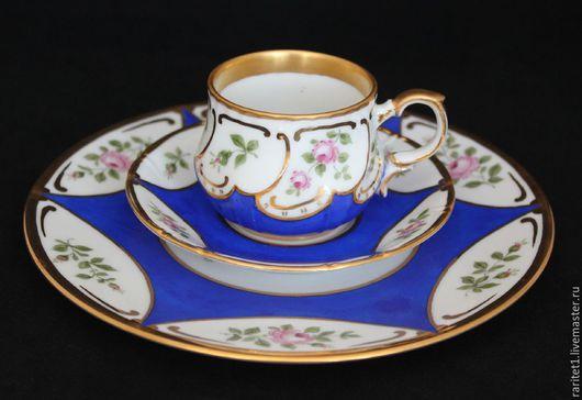 Винтажная посуда. Ярмарка Мастеров - ручная работа. Купить Чайная тройка Севр SEVRES золото Франция 4. Handmade. раритет