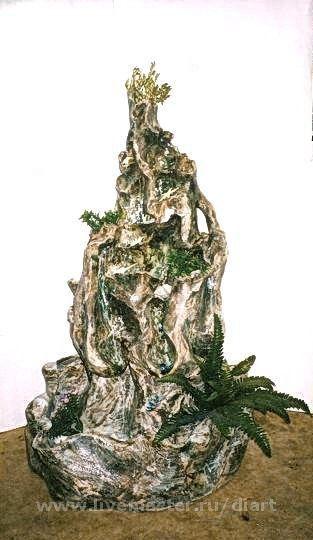 """Элементы интерьера ручной работы. Ярмарка Мастеров - ручная работа. Купить фонтан """"Скала"""". Handmade. Серый, фонтан, скала, природа"""