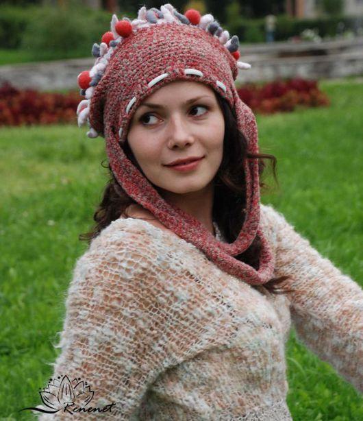 """Шапки ручной работы. Ярмарка Мастеров - ручная работа. Купить Шапко-сумко """"Рожки-шарики"""" - серия Crazy Girl. Handmade."""