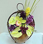 """Цветы и флористика ручной работы. Ярмарка Мастеров - ручная работа """"Жаркие тропики - 2"""". Handmade."""